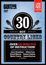 30 Hot Country Licks [Guitar]