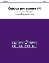 Canzon per sonare No. 4 - Interchangeable Woodwind Ensemble