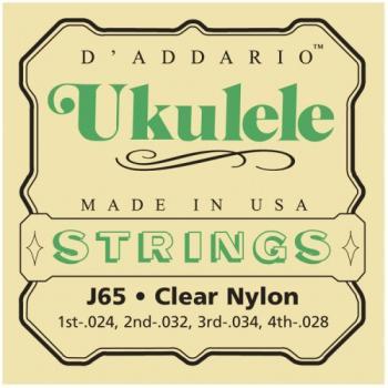 D'Addario Clear Nylon Soprano Ukulele Strings J65