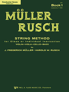 MULLER-RUSCH STRING METH #1-SCORE/PIANO