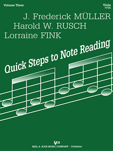 Quick Steps To Notereading, Vol 3, Viola