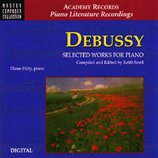 DEBUSSY SELECTED WORKS FOR PIANO/CD MASTER CMP