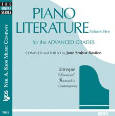 PIANO LITERATURE, VOL 5-CD BASTIEN SP
