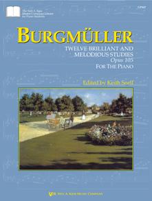 Twelve Billiant and Melodious Studies Op 105 [piano] Burgmuller
