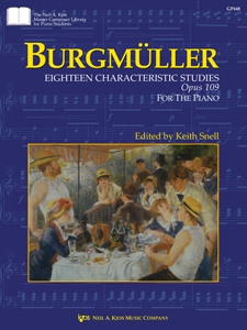 Burgmuller 18 Characteristic Studies Op. 109