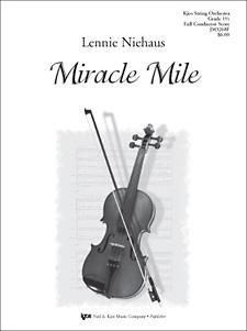 Kjos Niehaus L   Miracle Mile - String Orchestra