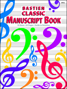 BASTIEN CLASSIC MANUSCRIPT BOOK BASTIEN TC