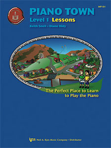 PIANO TOWN, LESSONS-LEVEL 1