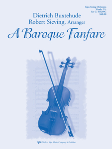 Kjos Buxtehude D Sieving R  Baroque Fanfare - String Orchestra