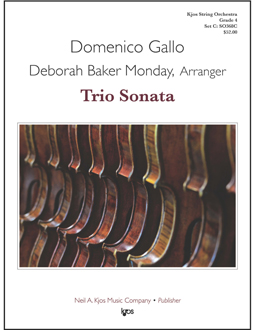 Kjos Gallo D Monday D B  Trio Sonata - String Orchestra