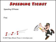 Speeding Ticket Post-It