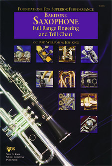 FOUNDATIONS TO A SUPERIOR PERFORMANCE - FINGERING & TRILL CHART - BARI SAX BSAX