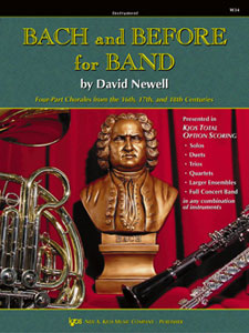 BACH AND BEFORE FOR BAND - Eb ALTO & BARI SAX PROGRAM-TE
