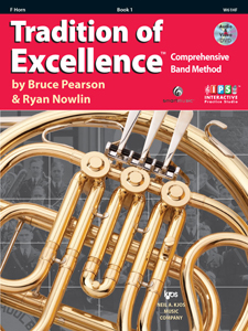 TRADITION OF EXCELLENCE BK 1 F HORN TOE
