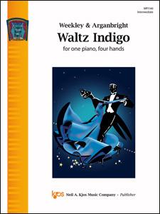 Kjos Weekley/Arganbright Nancy Arganbright  Waltz Indigo - 1 Piano  / 4 Hands
