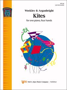 Kjos Weekley/Arganbright Nancy Arganbright  Kites - 1 Piano  / 4 Hands