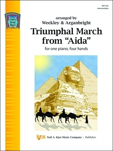 Kjos  Weekley/Arganbright  Triumphal March from Aida - 1 Piano  / 4 Hands
