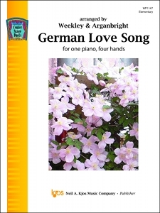 Kjos Nancy Arganbright Weekley/Arganbright  German Love Song - 1 Piano  / 4 Hands