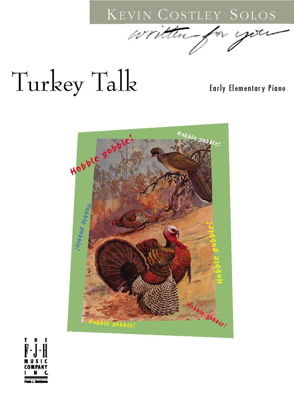 Turkey Talk [early elementary piano] Costley