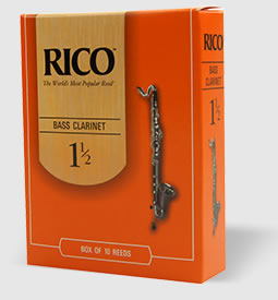 Rico by D'Addario REA2540 Bass Clarinet Reeds, Strength 4 - 25 Pack