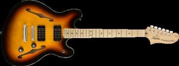 Squier 0370590500 Affinity Series  Starcaster, Maple Fingerboard, 3-Color Sunburst