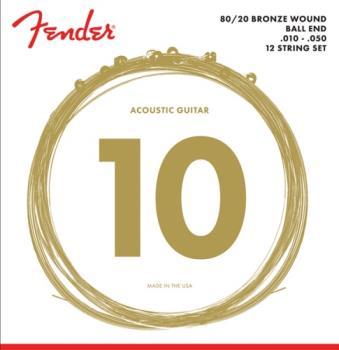 Fender 80/20 Bronze 12-String Acoustic Guitar Strings