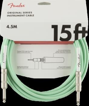 Fender 0990515058 Original Series Instrument Cable, 15', Surf Green