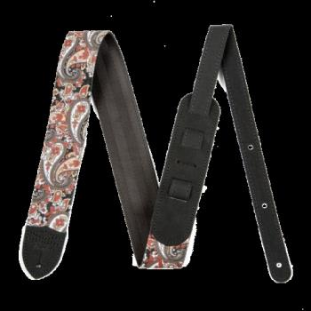 "Fender 0990609003 Paisley Denim Strap, 2"" Red"