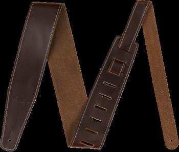 "Fender 0990641050 Broken-In Leather Strap, Brown 2.5"""