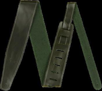 "Fender 0990641062 Broken-In Leather Strap, Green 2.5"""