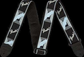"0990681502 Fender 2"" Monogrammed Strap, Black/Light Grey/Blue"