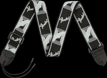 "0990681543 Fender 2"" Monogrammed Strap, Black/Light Grey/Dark Grey"