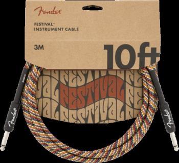 Fender 0990910299 10' Festival Instrument Cable, Pure Hemp, Rainbow