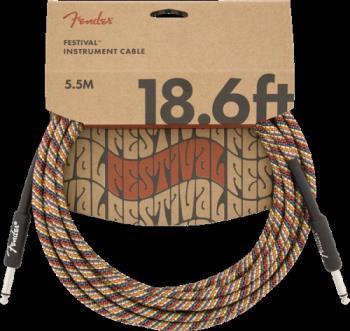 Fender 0990918299 18.6' Festival Instrument Cable, Pure Hemp, Rainbow