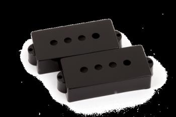 Fender 0992037000 Pickup Covers, Pure Vintage Precision Bass Black (2)