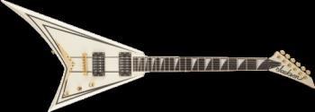 Jackson 2914311557 Pro Series Rhoads RRT-3, Ebony Fingerboard, Ivory with Black Pinstripes
