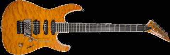 Jackson 2914322558 Pro Series Soloist  SL3Q MAH, Ebony Fingerboard, Dark Amber