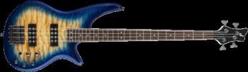 Jackson 2919007558 JS Series Spectra Bass JS3Q, Laurel Fingerboard, Amber Blue Burst