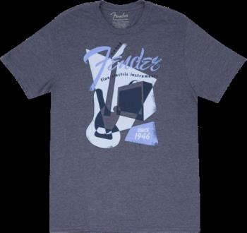 9125002606 Fender® Vintage Geo 1946 T-Shirt, Blue, XL
