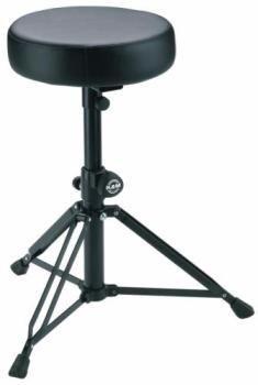 K&M Drummer's Throne -Black Leather