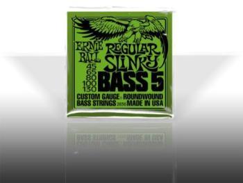 Ernie Ball 2836 Regular Slinky Bass Set 5-String; 45-130
