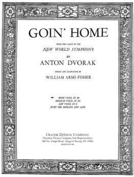 Dvorak - Goin' Home (Largo from New World Symphony) Op 95 [High Voice & Piano in E Flat] High Eb