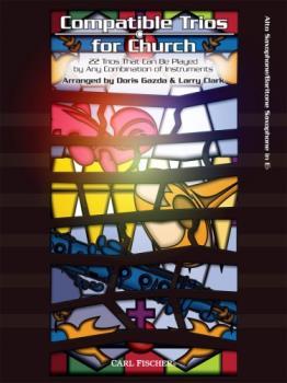 Carl Fischer  Gazda / Clark  Compatible Trios for Church - Alto / Baritone Saxophone