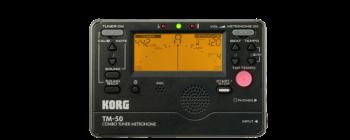 Korg TM50BK Combo Tuner/Metronome w/Folding Stand - Black
