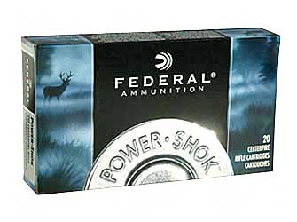 270A Federal Power Shok 270 130 Grain Jacketed Soft Point 20 Round Box