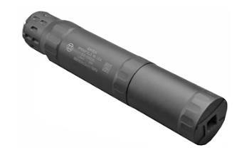 """Gemtech 12711 Pistol Suppressor, 9MM/300BLK Subsonic, Weight 10oz Long/7oz Short, Length 7"""" Long/ 4.7"""" Short, Diameter 1.4"""", 1/2X28 Thread ID Assembly,"""