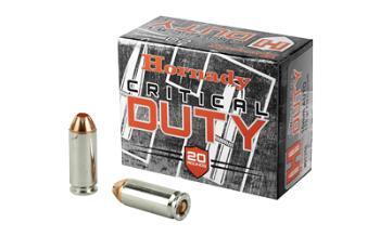 Hornady 91256 10MM 175GR Critical Duty 20/200