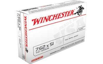 Winchester Q3130 WINCHESTER USA 762X51 147GR FMJ 20