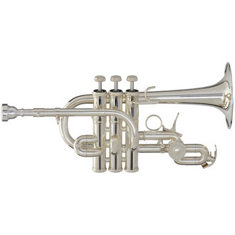 Yamaha YTR-9825 Custom Bb/A Piccolo Trumpet- Silver