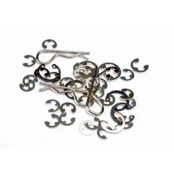 1633 Traxxas E Clips,C Rings:Universal